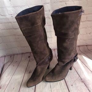 """[Diesel] """"Hubsch"""" Brown/purple suede boots SZ 8.5"""